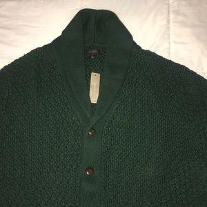 J. Crew Men's Knitted Cardigan in Hunter Green
